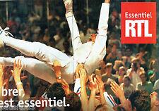 PUBLICITE ADVERTISING 096  1995   Radio RTL  (2p) l'essentiel  c'est vibrer