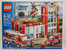 LEGO City - Model #60004 - FIRE STATION - 753 piece set - Ages 6-12 years