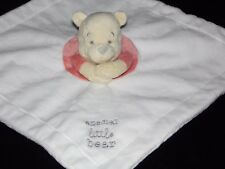 DISNEY WINNIE THE POOH COMFORTER SOFT TOY WHITE SPECIAL LITTLE BEAR BLANKE
