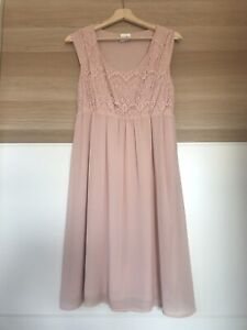 Mamalicious Nursing Breastfeeding Occasion Dress Size Small In Peach/Pale Pink