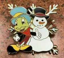 New ListingDisney Pin 2004 Jiminy Cricket with Snowman Pinocchio