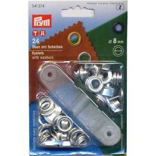 Prym Ösen und Scheiben Messing Silber 80mm