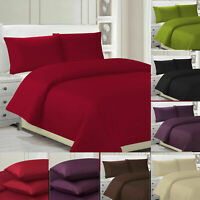Duvet Cover Bedding Set With Pillow Cases Quilt Double Single King Size 100%