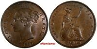 GREAT BRITAIN Victoria (1837-1901) Copper 1853 Half 1/2 Penny Luster KM# 726