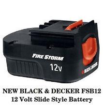 NEW BLACK & DECKER FSB12 12 Volt Slide On Battery