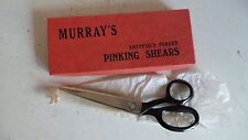 Vintage Old Murray's Sheffield Forged Pinking Shears Scissors in Original Box