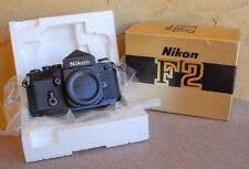 Nikon Black F2 SLR camera body with DE-1 eyelevel finder in original box - EXC