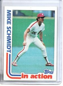 1982 TOPPS MIKE SCHMIDY IN ACTION ( NM-MT OR BETTER )