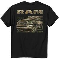 Ram 18 Camo Flag Dodge Pickup Truck Made In America Patriotic T Shirt 2584