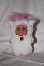"Troll Doll 3"" Russ Easter Lamb Sheep Bright Pink Hair lamb suit costume"