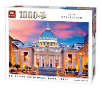 1000 Piece Jigsaw Puzzle Basilica Church St. Peters Cathedral Rome Italy 05706