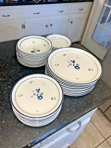 Keltcraft Blue Chintz Dinner Plates,salad Plates, Bowls, Saucers