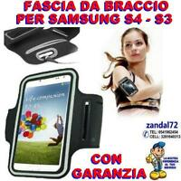 FASCIA DA BRACCIO NERO PER SAMSUNG GALAXY S4 S3 PORTACELLULARE CORSA FITNESS .