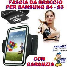 FASCIA DA BRACCIO NERO PER SAMSUNG GALAXY S4 S3 PORTACELLULARE CORSA FITNESS ,