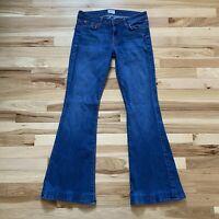 Hudson Womens Jeans 28 Flare Wide Leg Bell Bottoms Pants Dark Wash