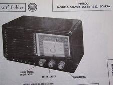 PHILCO 50-925 & 50-926 RADIO RECEIVER PHOTOFACT