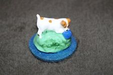 Jack Russell Mounted Little Ceramic Figure  - NEW - MUST L@@K - choice of 3