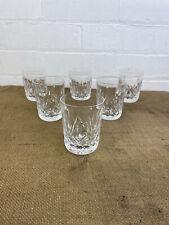 More details for set of 6 waterford crystal - lismore cut - 5oz tumbler glasses - 3 1/2
