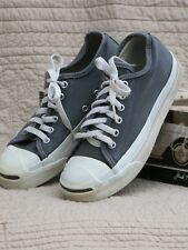 "Converse Jack Purcell Tennis Shoes Made U.S,A, New Old Stock Men""s 4.5 Dark Grey"