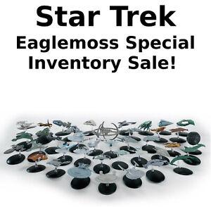 Star Trek Eaglemoss Ship SPECIAL Inventory SALE!  Your Choice of 75+ (no Mag)