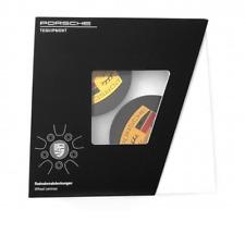 New Set Genuine Porsche Gloss Black Concave Alloy Wheel Centre Caps 00004460722