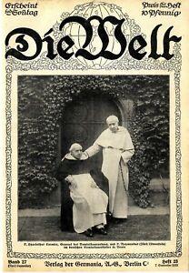 Dominikaner-General P.Cormier & P.Raymundus (Fürst Löwenstein) in Venlo von 1913