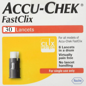 Accu-Chek FastClix lancets drums - set of 30 new lancets/5 drums (in a one lot)
