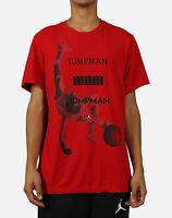 Nike Air Jordan S/S JUMPMAN PHOTO DRI-FIT T-SHIRT RED/MULTICOLOR AT8925-687