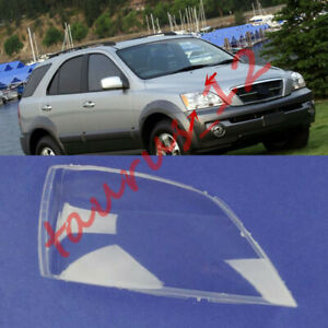 Right Headlight Cover Clear 1*PC + Glue replace For KIA Sorento 3.5  2004-2005