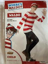 WHERE'S WALDO? Child Costume L/XL