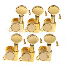 Set Of 6L Gold Metal Guitar Tuning Peg Tuner Guitar Tuning Machine Heads