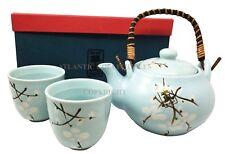 Japanese Design Blue Cherry Blossom Sakura Tea Pot and Cups Set Japan Home Decor