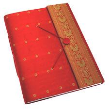 Fair Trade Handmade Extra Large Sari Photo Album Scrapbook Red