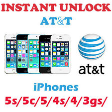 FAST FACTORY UNLOCK  US AT&T AT T locked Apple iPhones 3, 3gs, 4, 4s, 5, 5s, 5c