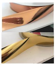 Metallic Rose Gold & Metallic Gold Tear / Florist / Balloon / Wedding Ribbon 3cm