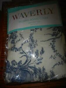 NEW WAVERLY LA PETITE FERME IRONING BOARD COVER BLUE FRENCH STYLE TOILE
