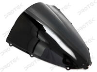 ABS Smoke Black Double Bubble Windscreen Windshield 06-2018 Kawasaki Ninja ZX14R