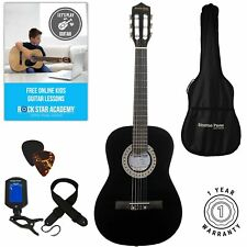 Acoustic Guitar Package 3/4 Sized (36' inch) Classical Nylon String Childs Gu...