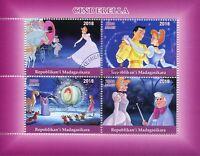 Madagascar 2018 CTO Cinderella 4v M/S Disney Cartoons Stamps