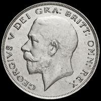 1924 George V Silver Half Crown, Scarce, GVF