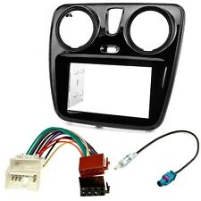 Autoradio Blende Adapter Kabel Set für Dacia Lodgy Dokker ab 2012 piano schwarz