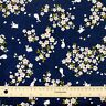Sakura And Bunnies on 100% Cotton Navy Blue Fabric Fat Quarter Quilting FQ #0099