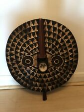 TRIBAL AFRICAN LARGE WOODEN SUN FACE MASK BURKINA FASO FROM AFRICA