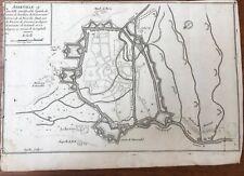 DE FER FORTIFICATIONS PLAN  D'ABBEVILLE  C. 1690. BAIE DE SOMME