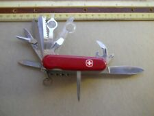 Wenger Matterhorn Plus Swiss Army knife in red - 9 layer. a big one