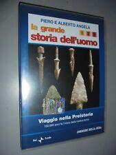 DVD N° 1 EL GRAN STORIA DELL'UOMO VIAJE EN PREHISTORIA 100.000 AÑOS FA