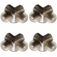 4 x Nickel 2-leg metal cabinet corners for amplifier