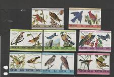 NEVIS  407-422 plate proof pairs BIRDS VFNH