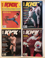 Vintage Kick Illustrated 1983 Magazines Karaté Tkd Shotokan Goju Self Defense