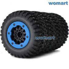 4pcs RC 1/10 Off Road Buggy Short Course Tires & Hex 12mm Beadlock Wheels Rims